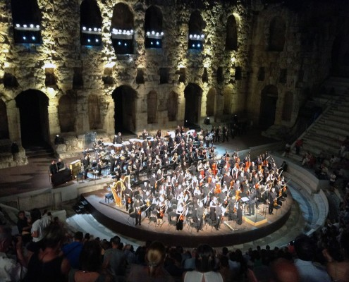 Classical Performance at The Odeon of Herodes Atticus, Athens