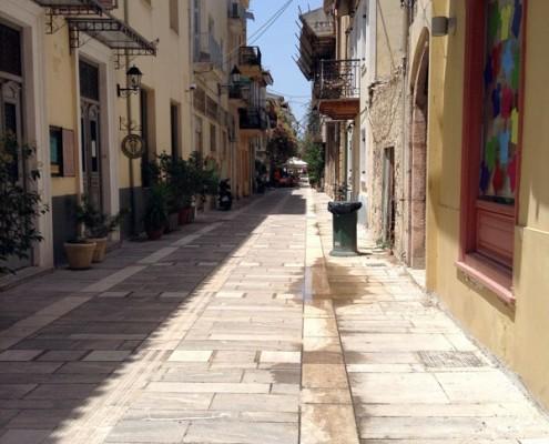 Streets of Napflio, Greece